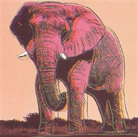 endangered species: african elephant [ii.293] by andy warhol